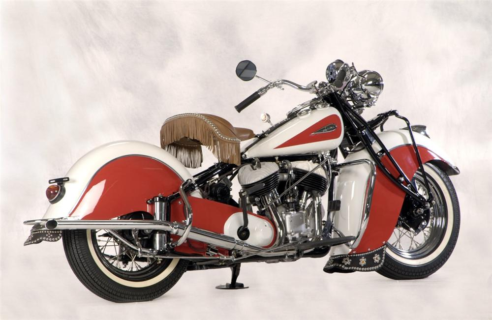 1941 INDIAN CHIEF MOTORCYCLE - Rear 3/4 - 23241
