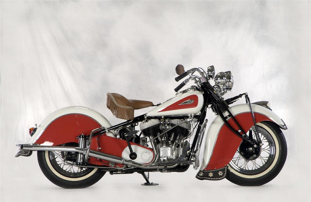 1941 INDIAN CHIEF MOTORCYCLE - Side Profile - 23241