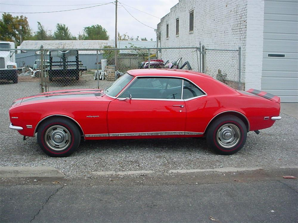 1968 CHEVROLET CAMARO RS/SS COUPE - Side Profile - 23242