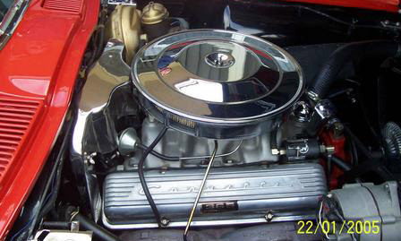 1964 CHEVROLET CORVETTE 327 COUPE - Engine - 23258