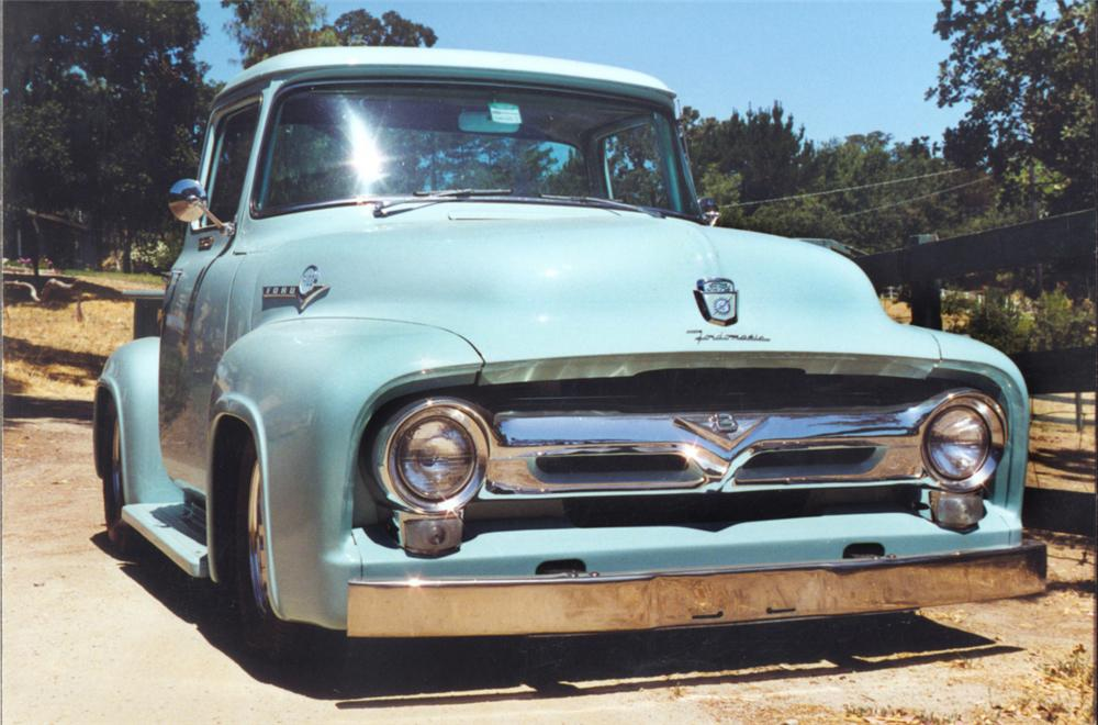 1956 FORD F-100 CUSTOM PICKUP - Front 3/4 - 23301