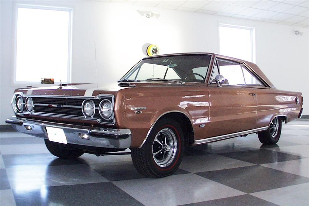 1967 PLYMOUTH GTX COUPE - Side Profile - 23302