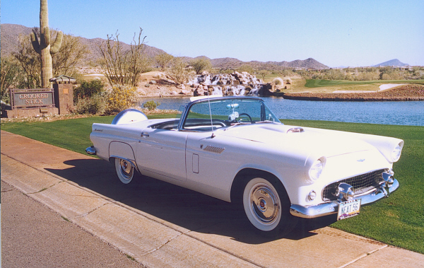 1956 FORD THUNDERBIRD CONVERTIBLE - Front 3/4 - 23318