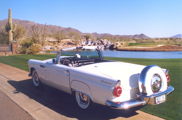 1956 FORD THUNDERBIRD CONVERTIBLE - Rear 3/4 - 23318