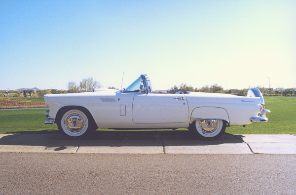 1956 FORD THUNDERBIRD CONVERTIBLE - Side Profile - 23318