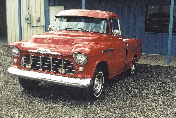 1956 CHEVROLET CAMEO PICKUP - Front 3/4 - 23449