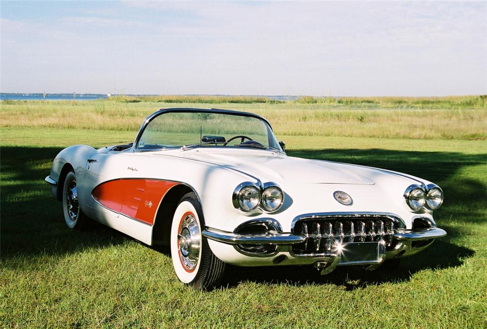 1960 CHEVROLET CORVETTE FUEL INJECTED CONVERTIBLE - Front 3/4 - 23489