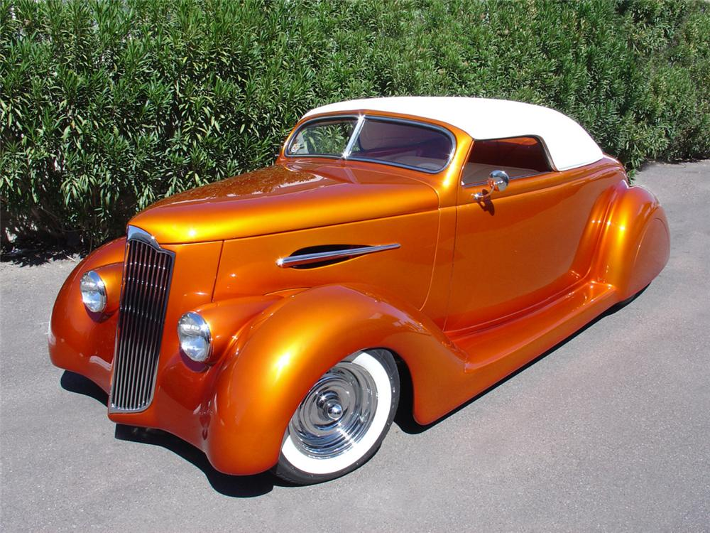 1936 FORD CONVERTIBLE STREET ROD - Front 3/4 - 23493