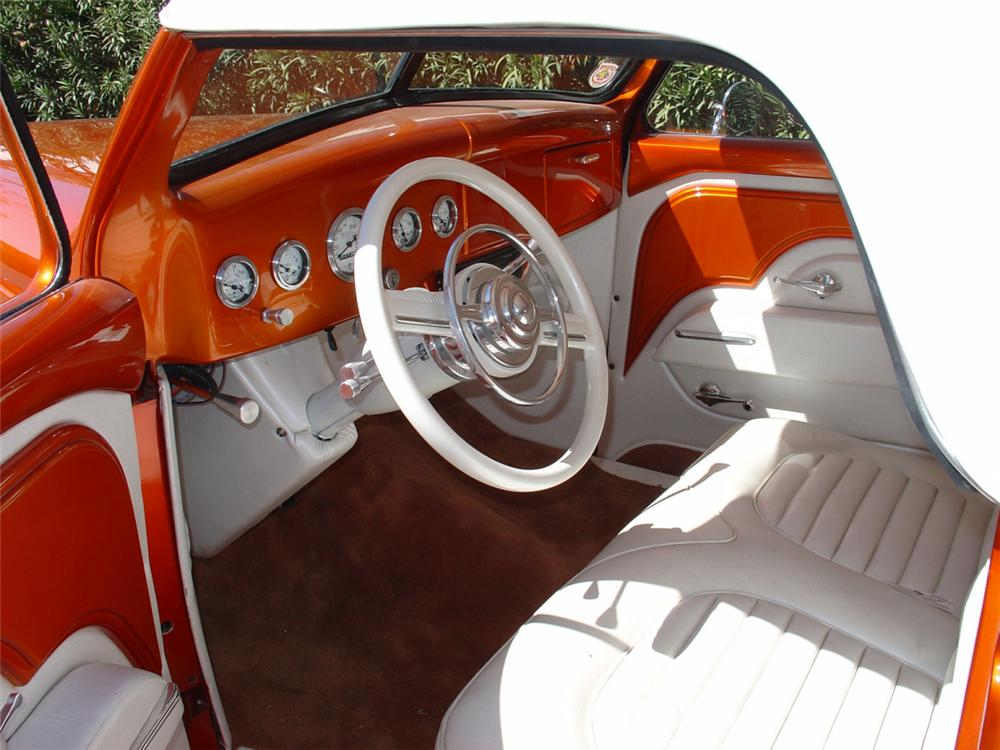 1936 FORD CONVERTIBLE STREET ROD - Interior - 23493