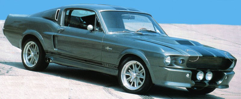 """1968 FORD MUSTANG GT 500 FASTBACK """"ELEANOR"""" - Front 3/4 - 23508"""