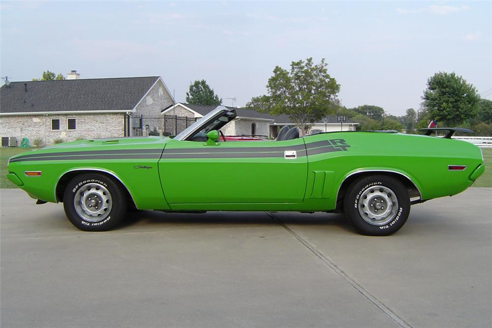 1971 DODGE CHALLENGER CONVERTIBLE - Side Profile - 23512