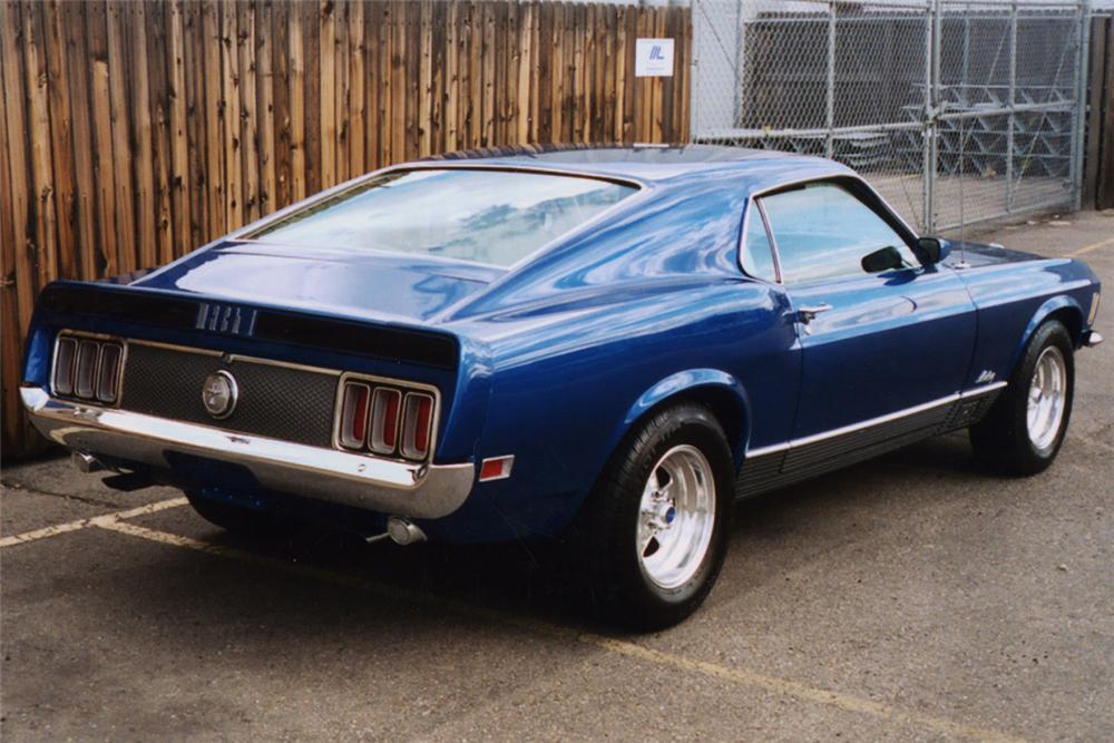 1970 FORD MUSTANG MACH 1 FASTBACK - Rear 3/4 - 23519