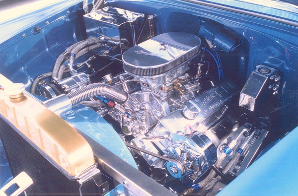 1955 CHEVROLET BEL AIR SPORT COUPE - Engine - 23543