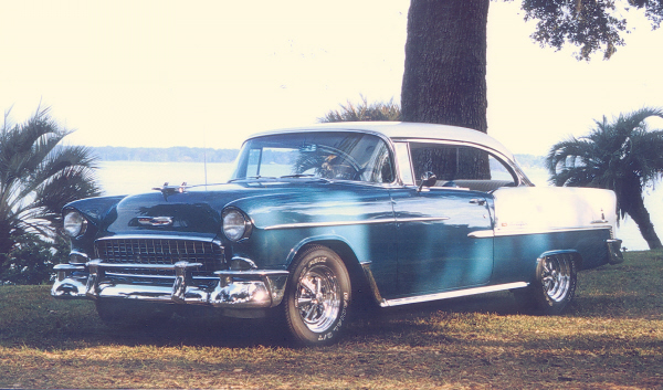 1955 CHEVROLET BEL AIR SPORT COUPE - Front 3/4 - 23543