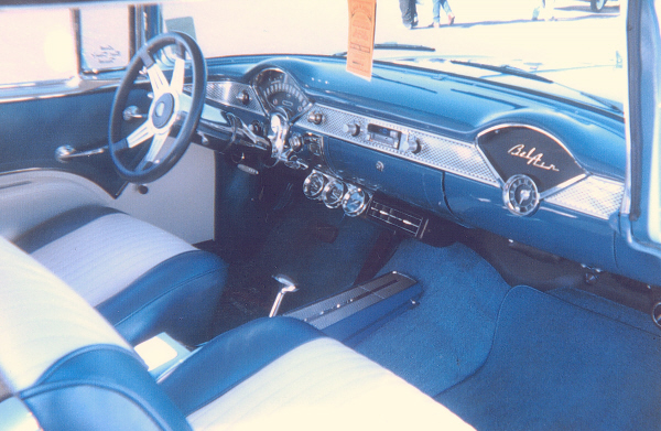 1955 CHEVROLET BEL AIR SPORT COUPE - Interior - 23543
