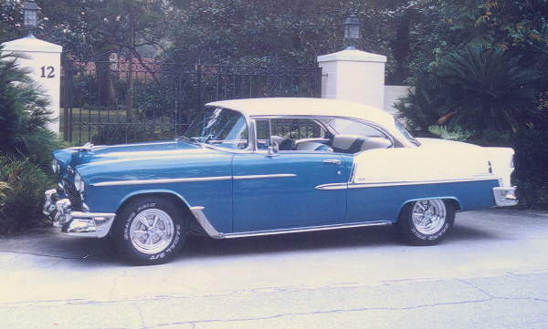 1955 CHEVROLET BEL AIR SPORT COUPE - Side Profile - 23543