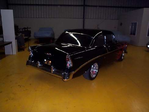 1956 CHEVROLET BEL AIR 210 HOT ROD - Rear 3/4 - 23633