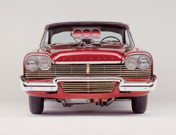1957 PLYMOUTH FURY COUPE - Side Profile - 23667