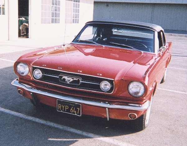 1966 FORD MUSTANG GT CONVERTIBLE - Side Profile - 23676