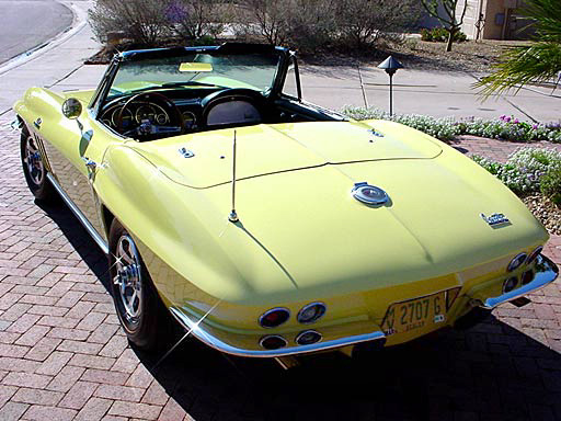 1966 CHEVROLET CORVETTE 427/425 CONVERTIBLE - Rear 3/4 - 23684