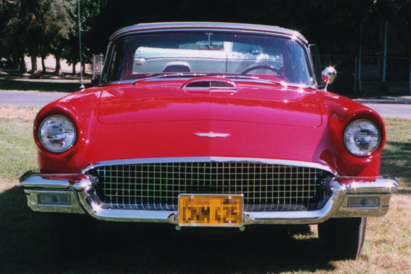 1957 FORD THUNDERBIRD CONVERTIBLE - Side Profile - 23716