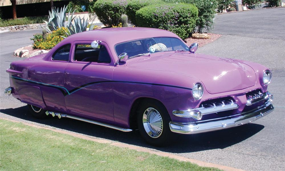 1951 FORD DELUXE CUSTOM BUSINESS COUPE - Front 3/4 - 23800