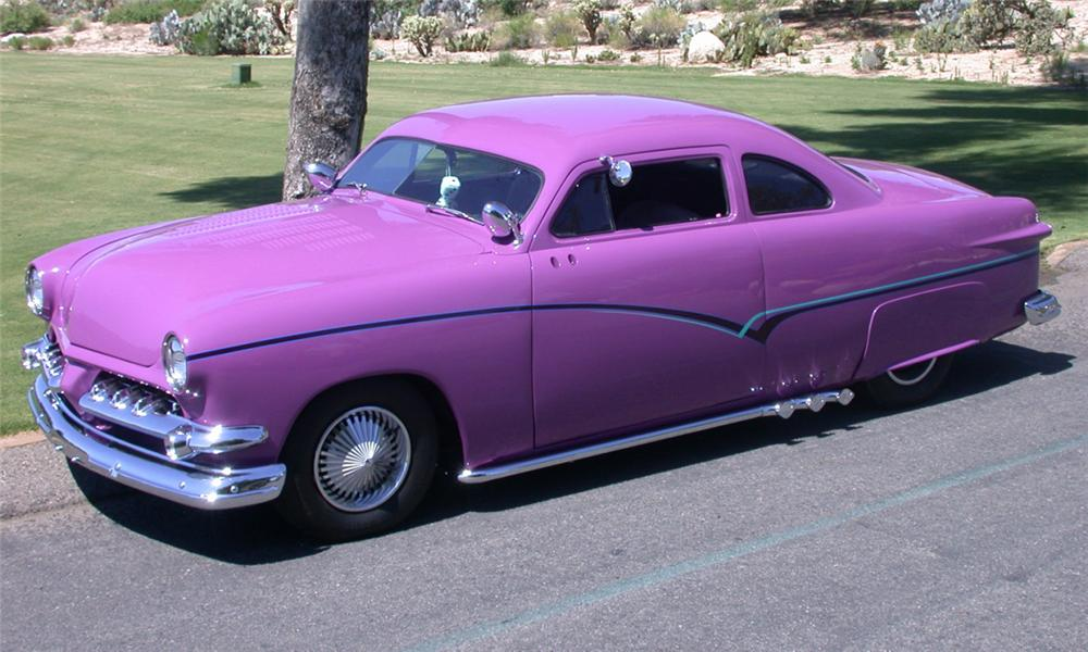 1951 FORD DELUXE CUSTOM BUSINESS COUPE - Side Profile - 23800
