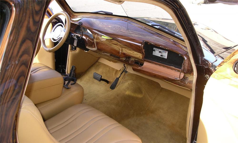1951 FORD CUSTOM 2 DOOR WOODY WAGON - Interior - 23804