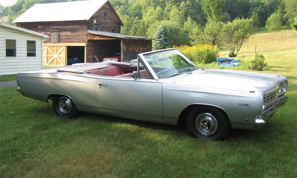 1968 PLYMOUTH SATELLITE CONVERTIBLE - Front 3/4 - 23811
