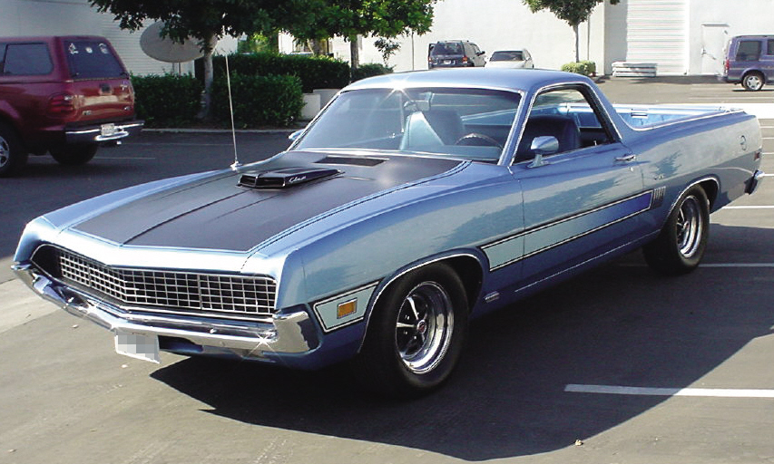 1970 FORD RANCHERO GT PICKUP - Front 3/4 - 23818