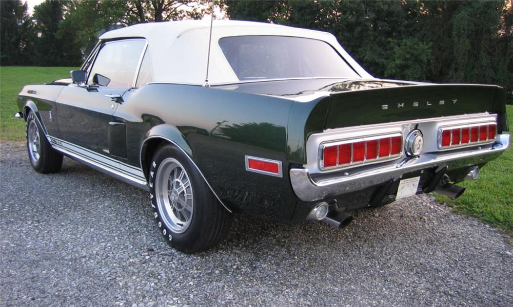 1968 SHELBY GT500 CONVERTIBLE - Rear 3/4 - 23825