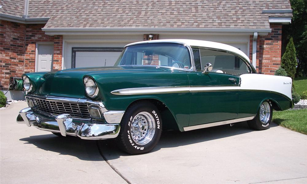 1956 chevrolet bel air custom 2 door hardtop 23830. Black Bedroom Furniture Sets. Home Design Ideas