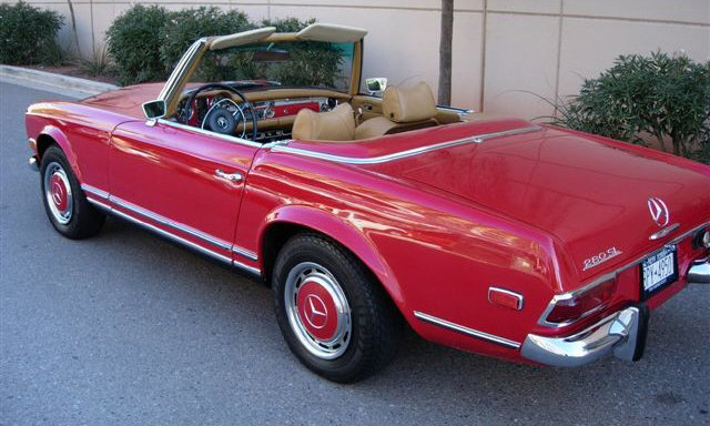 1969 MERCEDES-BENZ 280SL ROADSTER - Side Profile - 23837