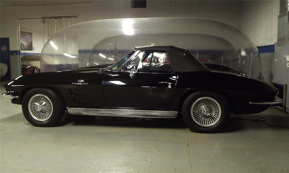 1963 CHEVROLET CORVETTE FI CONVERTIBLE - Side Profile - 23881