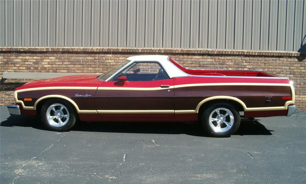 1975 FORD RANCHERO SQUIRE PICKUP - Side Profile - 23906
