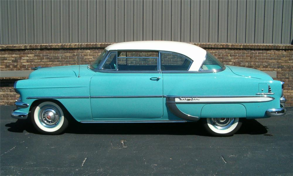 1954 chevrolet bel air 2 door hardtop 23908