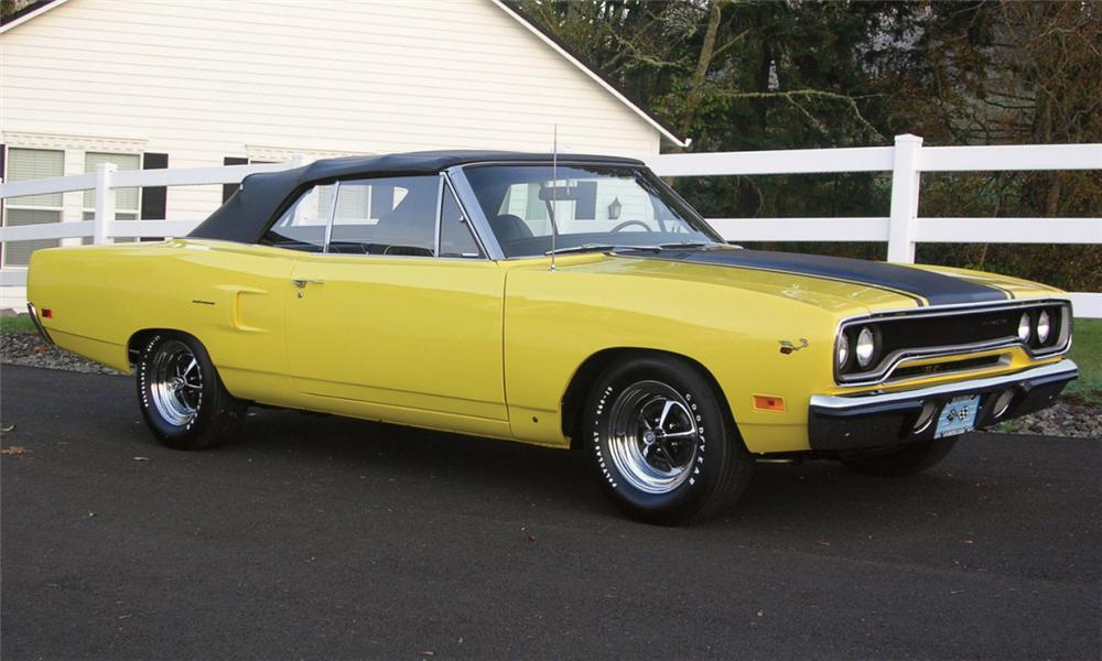 1970 PLYMOUTH ROAD RUNNER CONVERTIBLE - Front 3/4 - 23911