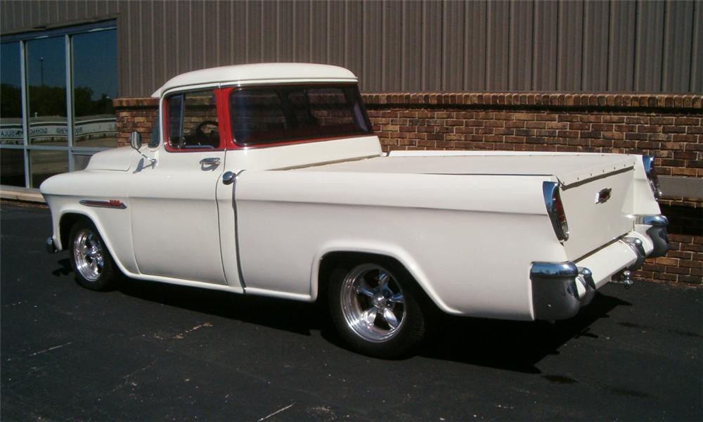 1955 CHEVROLET CAMEO CUSTOM TRUCK - Rear 3/4 - 23922