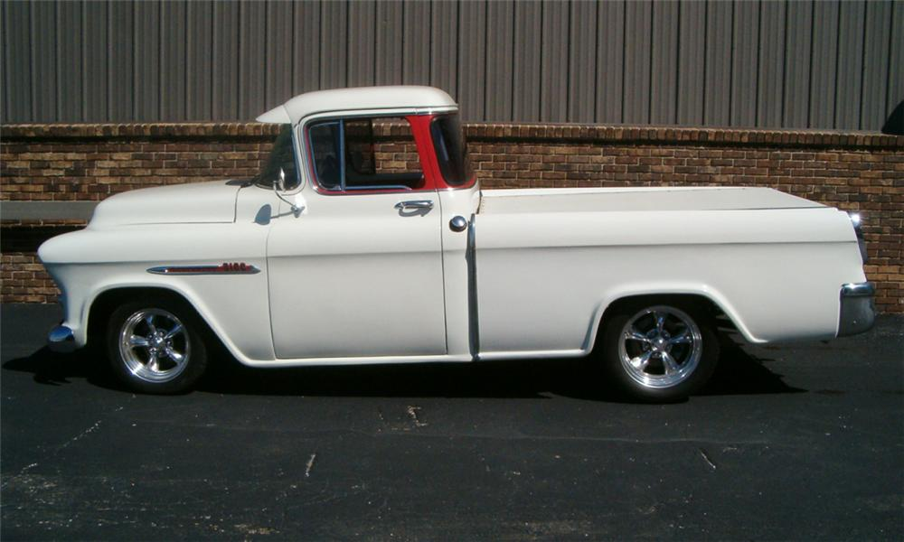 1955 CHEVROLET CAMEO CUSTOM TRUCK - Side Profile - 23922