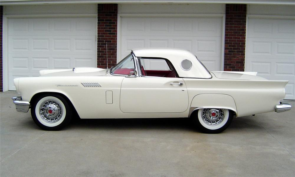 1957 FORD THUNDERBIRD E CONVERTIBLE - Side Profile - 23929
