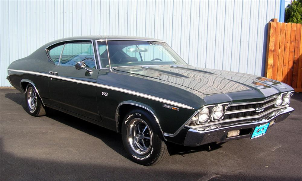 1969 CHEVROLET CHEVELLE COUPE - Front 3/4 - 23951