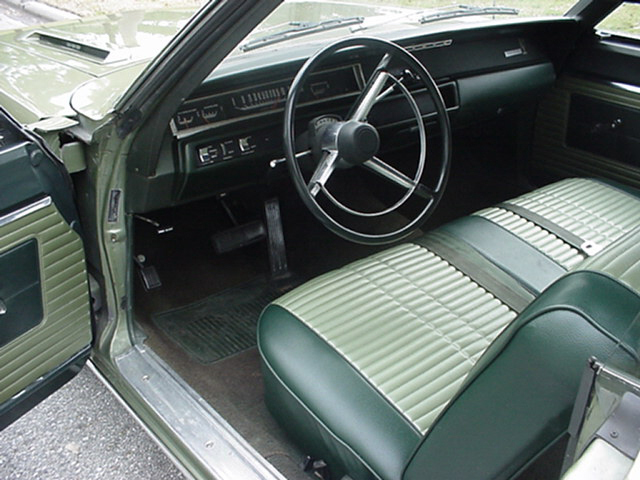 1968 PLYMOUTH ROAD RUNNER 2 DOOR HARDTOP - Interior - 23967