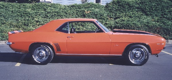 1969 CHEVROLET CAMARO Z/28 COUPE - Side Profile - 24070