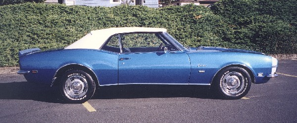1968 CHEVROLET CAMARO RS/SS CONVERTIBLE - Side Profile - 24083