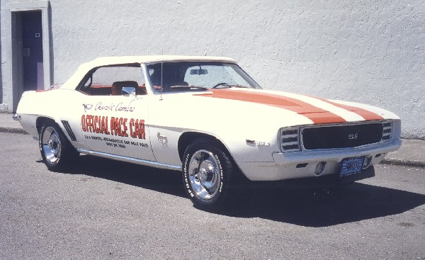 1969 CHEVROLET CAMARO INDY PACE CAR CONVERTIBLE - Front 3/4 - 24094