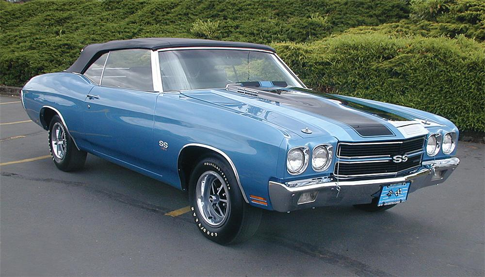1970 CHEVROLET CHEVELLE SS CONVERTIBLE - Front 3/4 - 24113