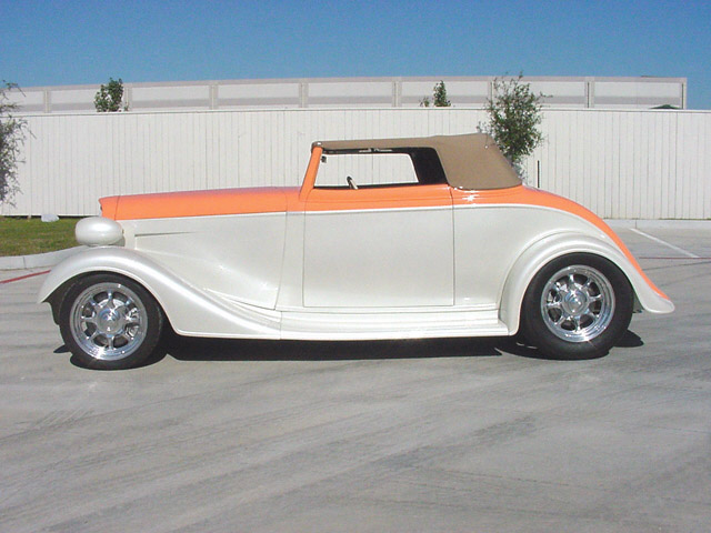 1934 CHEVROLET STREET ROD ROADSTER - Front 3/4 - 24128