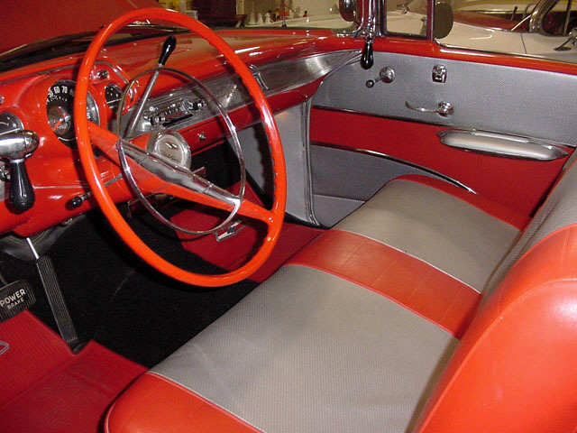 1957 CHEVROLET BEL AIR FI CONVERTIBLE - Interior - 24130