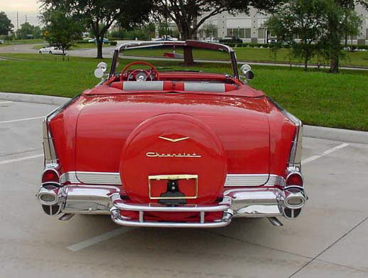 1957 CHEVROLET BEL AIR FI CONVERTIBLE - Rear 3/4 - 24130