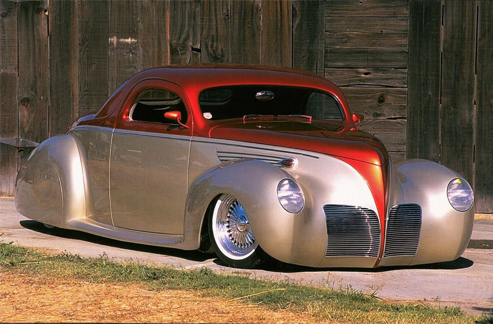 1938 LINCOLN ZEPHYR V12 COUPE STREET ROD - Front 3/4 - 24133